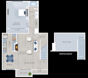 Loft Apartments in Encino, plan